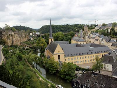 Luxemburgs Altstadt an der Alzette