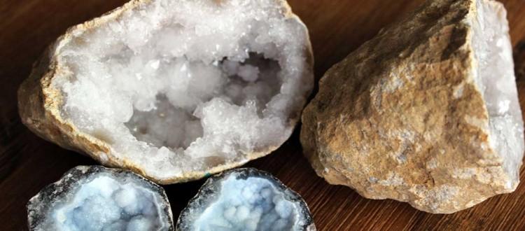 Bergkristall und Chalcedon