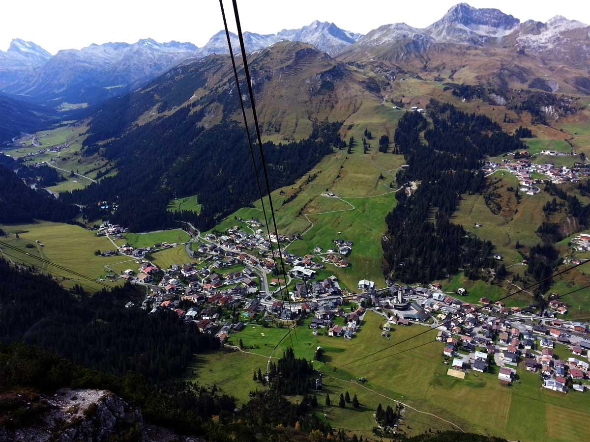 Blick auf Lech Zürs am Arlberg